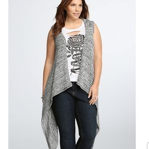 Torrid Hooded Drape Front Knit Vest Size 0X